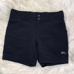 REI Black Hiking Shorts Stretch Size 8